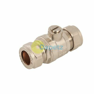 Full Bore Isolating Valve Durable Brass Stainless Steel Polymer Valve15mm