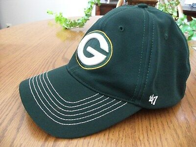 NFL Green Bay Packers 47 Brand Closer Stretch Fit Hat Cap Flexfit Embroider  New eeae433b9