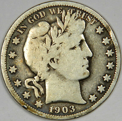1903-S Barber Half Dollar ~ Nice And Bold Fine ~ Priced Right!
