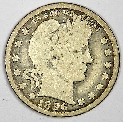 1896-O Barber Quarter ~ Nice And Bold Vg ~ Priced Right! (Inv.1)