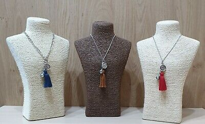 """Alphabet Letter Initial Tassel Long Necklace 30"""" More Design And Colours"""