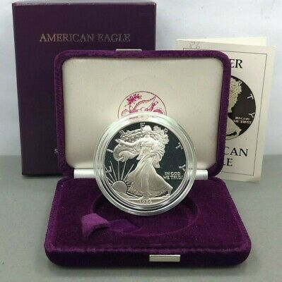 1986-S 1oz Proof American Silver Eagle with Box & COA ( OGP ) **First Year**
