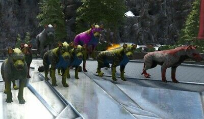 Ark Survival Evolved Xbox One PvE Various Color Mutated Hyaenodon's Lvls 174-247
