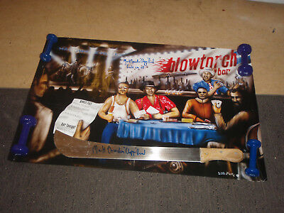 """Large BAR POSTER and MACHETE BOTH SIGNED by Mark Brandon """"Chopper"""" Read"""