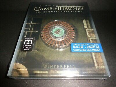 GAME OF THRONES-Season 1-LIMITED EDITION STEELBOOK w/Collectible SIGIL MAGNET