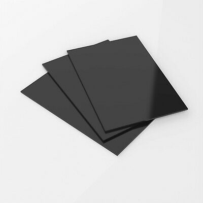 3mm Gloss Black Colour Perspex Acrylic Sheet With Polished Edges Cut to Size