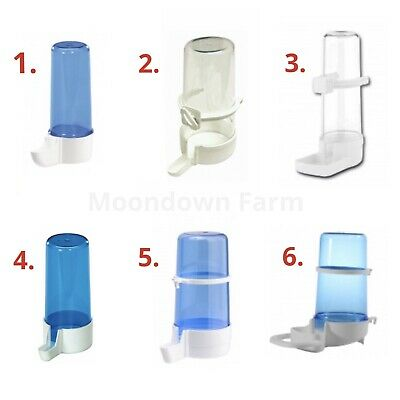 Bird Water Drinker & Feeder Bottles Anti Algae Finch Canary Budgie Birds Cage