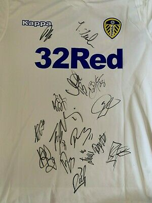 Leeds United Hand Signed Squad Football Shirt 15 Autographs 18/19 Proof 3.