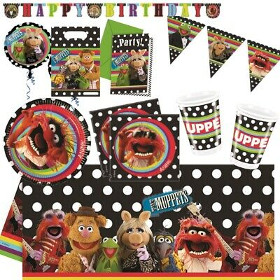 The Muppets Kermit Miss Piggy Party Tableware, Decorations, Balloons