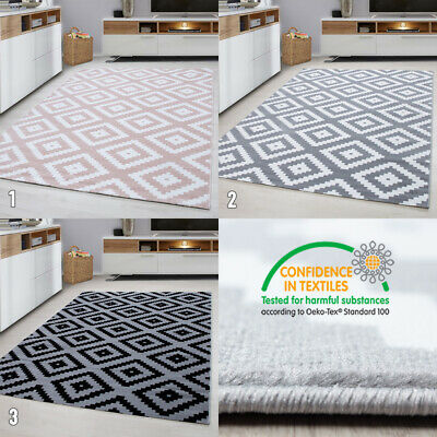 Geometric Rug Small X Large Checkered Pattern Mat for Living Room Runner Carpets
