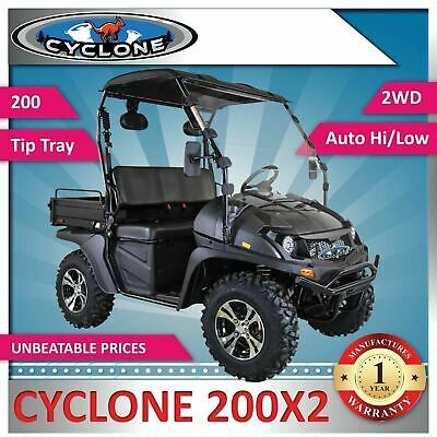 New Cyclone 200 X2 eXtra Large Body - Utility Vehicle includes Windscreen, Roof