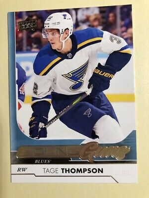 2017/18 Ud Series 1 Tage Thompson Young Guns Rc Sp Rookie #228