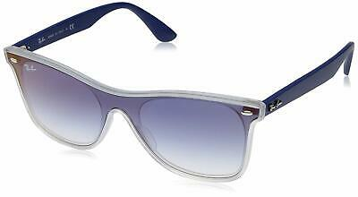 ffd85ce988 Authentic Ray Ban Sunglasses Rb 4440N 6356Xo Matte Transparent blue Mirror  Red