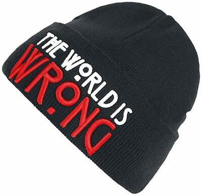 1bd1b45bbd9 NEW - AMERICAN HORROR MOVIE  THE WORLD IS WRONG  Unisex Black BEANIE - OS