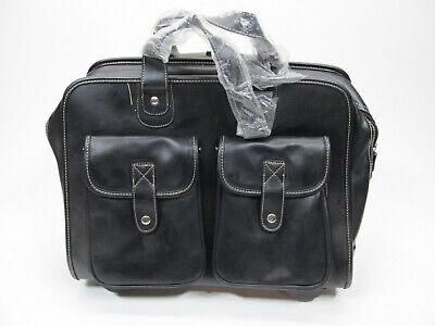 Black Multifunctional Rolling Briefcase
