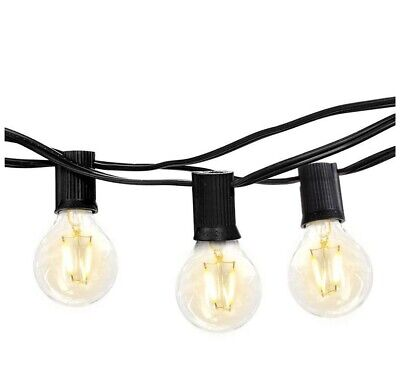 Brightech Ambience Pro - Waterproof LED Outdoor String Lights,  26 Ft, Black