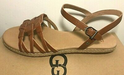 e60cc6e74565 UGG Larisa Sandals Brown Womens Size 9 M Buckle Shoes Open Toes NEW  80