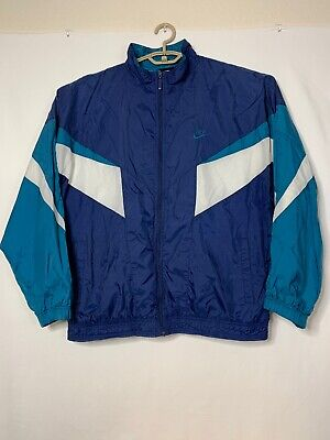 6f008d9ce30d VTG Nike White Blue 90s Color Block Jacket Men s XL Full Zip Lined  Windbreaker