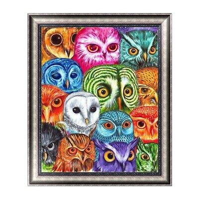 DIY 5D Diamond Painting Lots Owls Cross Stitch Embroidery Craft Home Decor