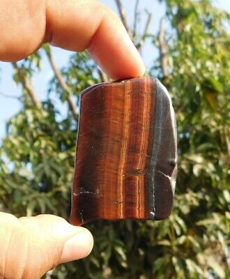 162.6 Cts 100% Natural  Iron Tiger Eye 56X40X6 Mm Slab Loose Gemstone