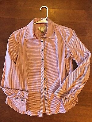 a94cd14cc22bb7 TALBOTS BUTTON DOWN Shirt Size SP Small Petite Womens Blue Polka Dot ...