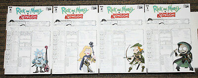 IDW Rick & Morty & Dungeons & Dragons #1-4 COMPLETE SET B Campaign Vars ALL 1sts