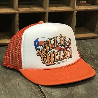 b63c44897b3 Willie Nelson   Family Country Music Trucker Hat Vintage 80 s Style  Snapback Org