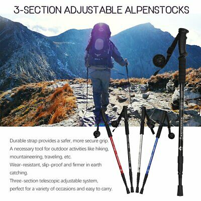 NEW Trekking Hiking Poles Walking Stick Anti Shock Camping High Quality HG