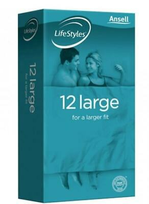 Lifestyle Larger Condoms 12 pieces Ansell
