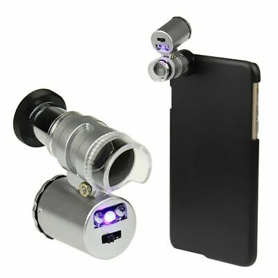 60X Zoom Phone Loupe Microscope Lens LED Magnifier Micro Camera For iPhone K