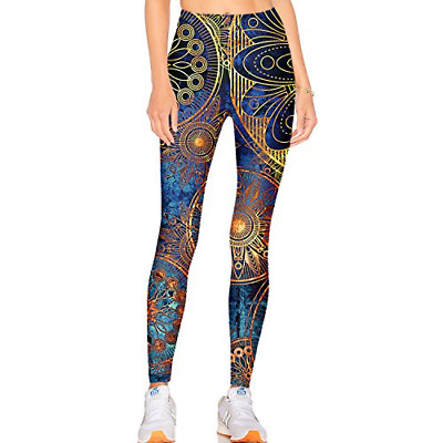 27e72f412d3795 Tulucky Women's Best Printed Leggings Yoga Workout Stretchy Tights Pants XL,