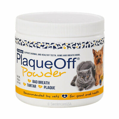 PLAQUE OFF POWDER TARTAR BAD BREATH GINGIVITIS CAT DOG TEETH MOUTH TREATMENT180g