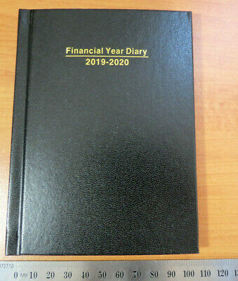 Diary FINANCIAL YEAR 2019/20 A6 POCKET 108 x 148mm Week To View Hardcover Black