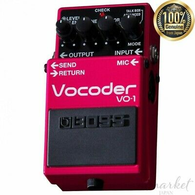 BOSS Vocoder VO-1 Pink Equipped with CHOIR mode Effect loop genuine from JAPAN