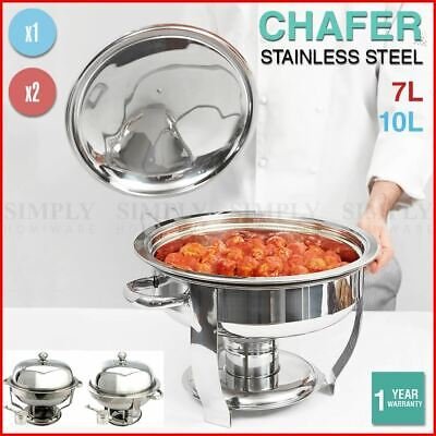 Stainless Steel Chafing Dishes Bain Marie Commercial Round Set Food Warmer Lid