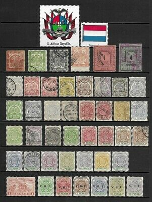 Collection of Old Stamps from TRANSVAAL - - - - - - (2 pages)