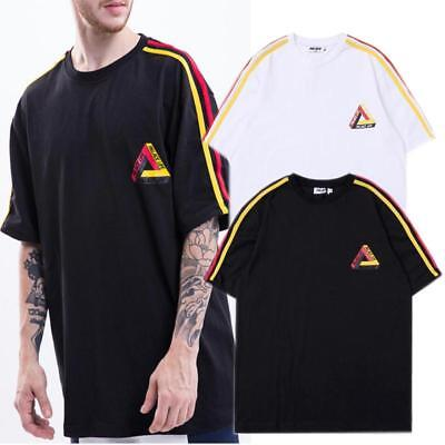 597da80fb1e6 Men s Palace Cotton Hip-hop Sports Skateboard Casual Stripes T-shirt M-XL