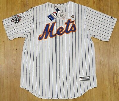 NEW New York Mets Majestic Cool Base World Series White jersey size LARGE