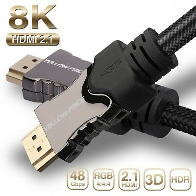 Ultra High Speed HDMI 2.1 Cable 4K@144HZ 8K@120Hz 48Gbps UHD HDR eARC RGB 4:4:4