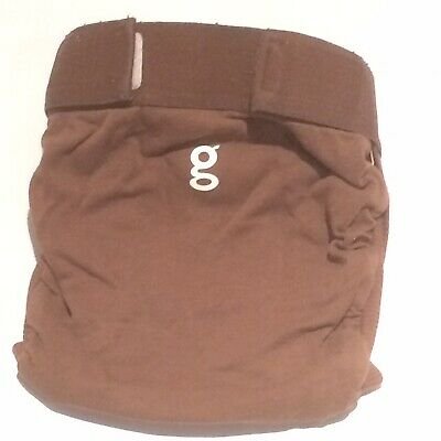Gdiapers Medium Got Chocolate Brown Gpants & Pouch