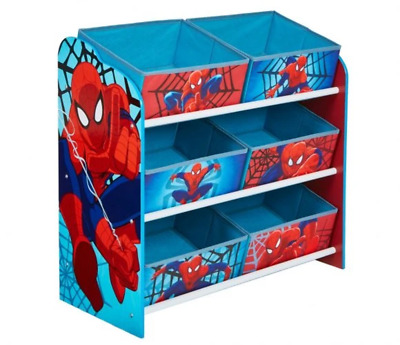 Worlds Apart Spiderman Multi Bin Storage Unit by HelloHome