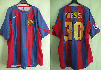 MAILLOT BARCELONE 2004 Football Jersey Fc Barcelona Messi