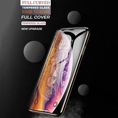 Tempered Glass For iPhone Xs Max Xr Screen Protector Full Curved Case Friendly