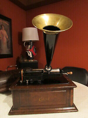 * Very Early 1901-03 * Edison Triumph Model * Phonograph * Plays Great * Nr *