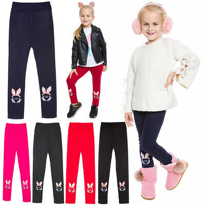 Thick Girls Children Leggings Fleece Inside Cotton Full Length Kids S2811B-4