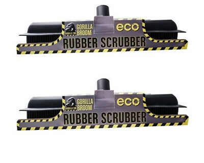 Gorilla Broom Rubber Scrubber Brush PACK OF TWO
