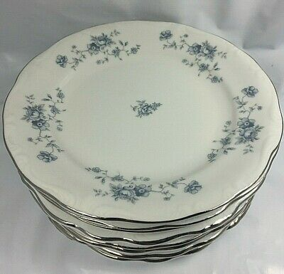 Vintage 8 Saucer Set Blue Garland Bavarian China by Johann Haviland Free Shippin