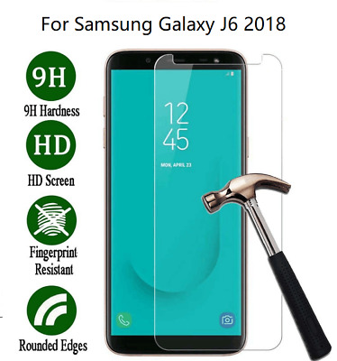For Samsung Galaxy J6 2018 Geniune Tempered Glass Screen Protector Film Guard