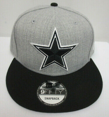 c9d7ea15eb3 Dallas Cowboys Snapback Hat Cap Mens Adjustable Nfl Football New Era 9Fifty  Grey
