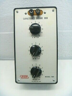 Eico Model 1180 Instrument Capacitance Decade Box As Is Untested
